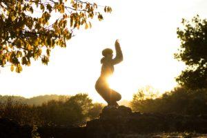 outdoor yoga im Odenwald