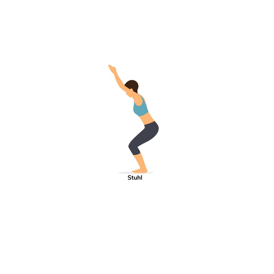 Standhaltungen im Yoga